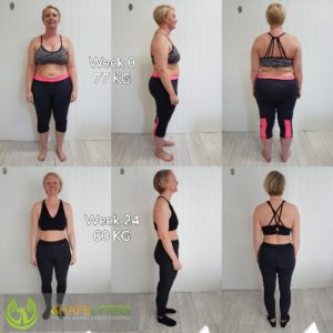 Shapelifters body transformation with personal training results wendy 17kg loss 560px