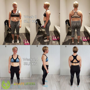 Shapelifters transformation personal training results with anke 3kg loss pixels 560x560