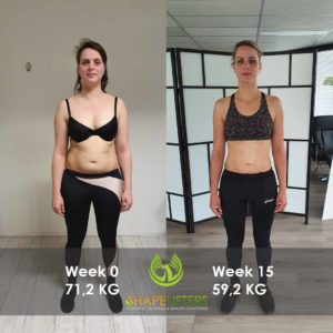Shapelifters transformation personal training results with Marloes 12kg loss pixels 1080x1080 frontside foto 1