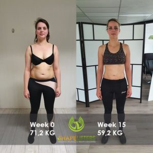 Shapelifters transformation personal training results with Marloes 12kg loss pixels 560x560 frontside foto 1