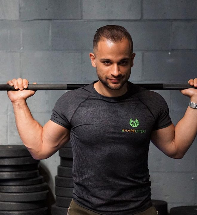 shapelifters personal trainer yasin sewpersad with barbell squat rack