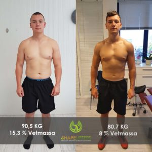Shapelifters transformation personal training results bram 10kg loss x1080x1080 foto