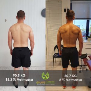 Shapelifters transformation personal training results bram 10kg loss x1080x1080 foto 2