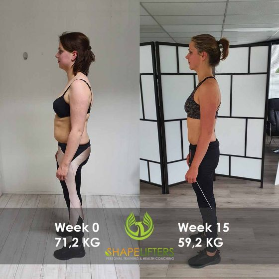 Shapelifters transformation personal training results with Marloes 12kg loss pixels 1080x1800 side foto 2